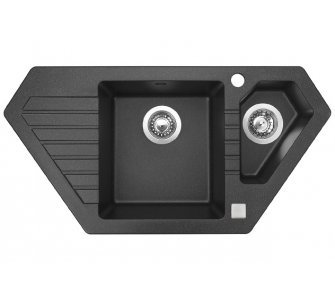 SET granit Sinks BRAVO 850.1 Granblack+VITALIA GR