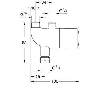 ventil proti obareniu Grohtherm Micro