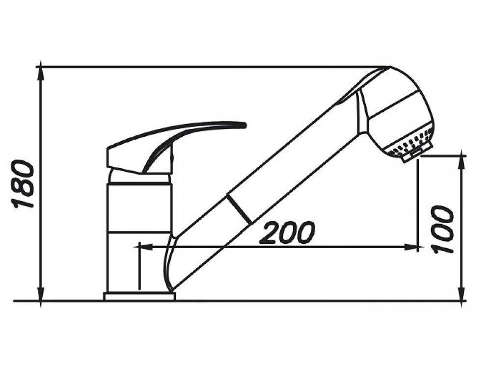 batéria drezová granitová Sinks LEGENDA S - 30 Granblack