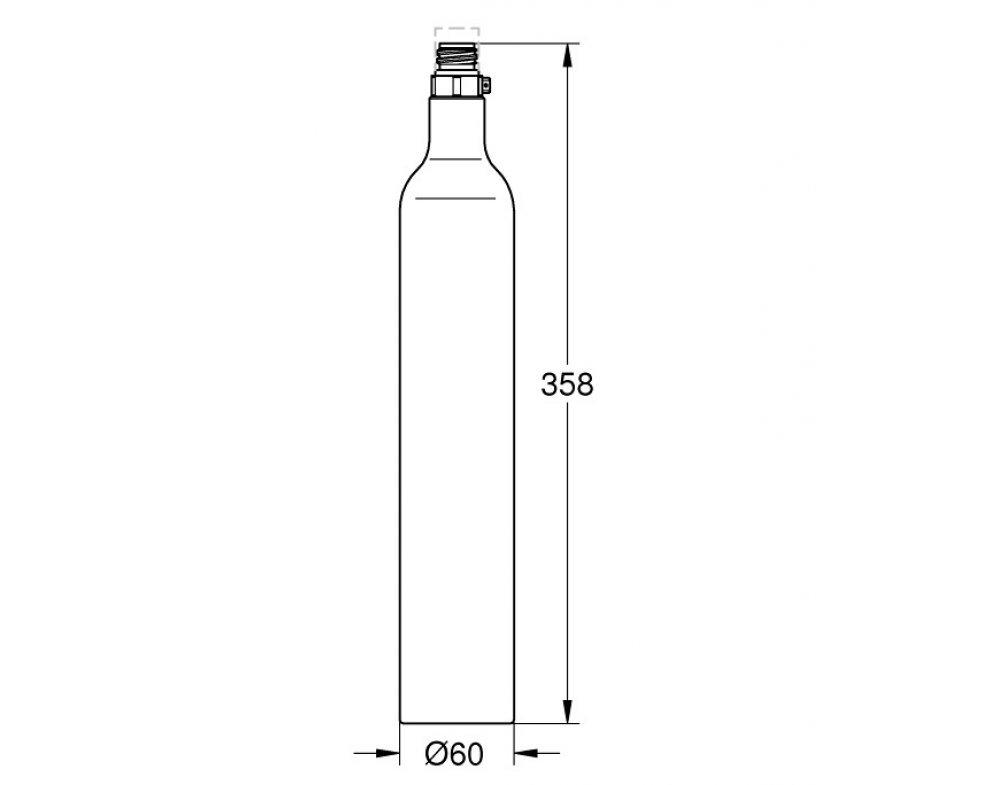 Tlaková láhev CO2 425g pro Grohe Blue