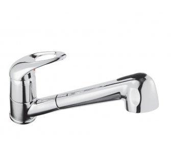 batéria drezová stojanková s výsuvnou sprchou, MOON