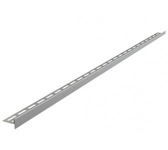 Nerezová lišta pre spádovanú podlahu, výška 10 mm, dĺžka 1000 mm, pravá, matná