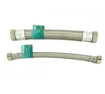 nerezová flexi hadica na vodu 1/2×1/2 FF 50cm, závit vnútorný/vnútorný GIGANT
