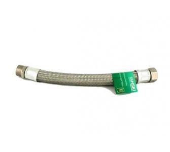 Nerezová flexi hadica na vodu 1/2×1/2 MF 30cm, závit vonkajší/vnútorný GIGANT