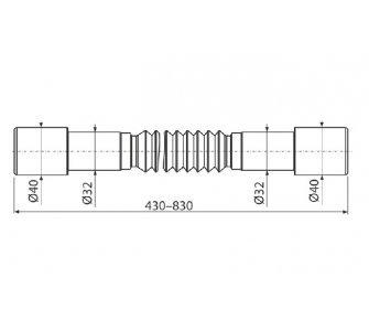 Flexi propojenie 40–32×32–40