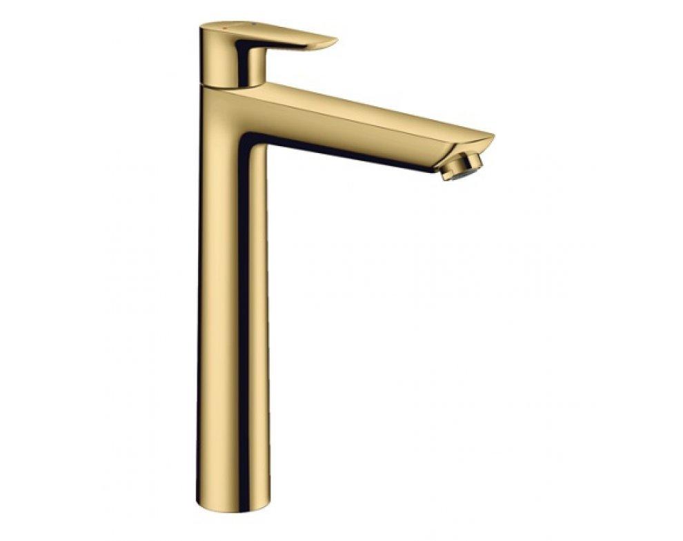 Umývadlová batéria s výpusťou, leštený vzhľad zlata , Talis E