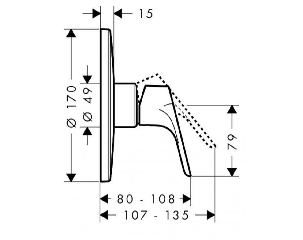 Sprchová podomietková páková batéria Highflow, Focus E2