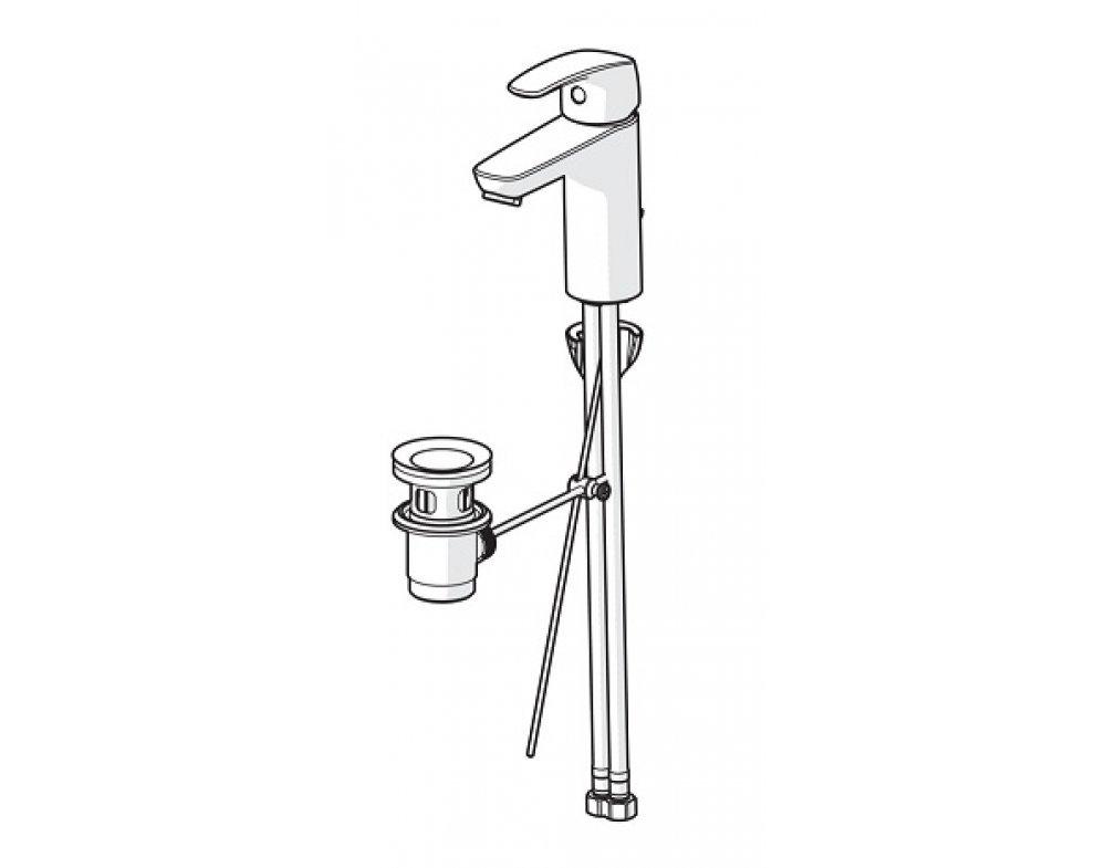 batéria umývadlová stojanková s odtok. garnitúrou, HANSAPINTO