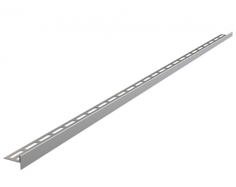 Nerezová lišta pre spádovanú podlahu, výška 10 mm, dĺžka 1200 mm, pravá, matná