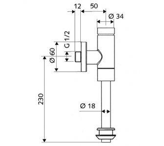 SCHELL tlakový splachovač pisoára SCHELLOMAT BASIC