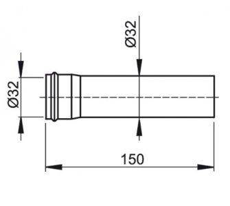 Predlžovací kus priemer 32mm