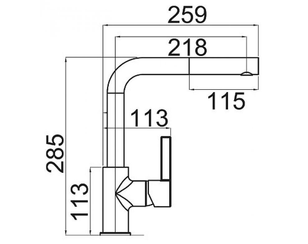 SET granit Sinks LINEA 780 N Metalblack+ENIGMA S GR