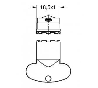 náhradný perlátor M 18,5 x 1 s kľúčom