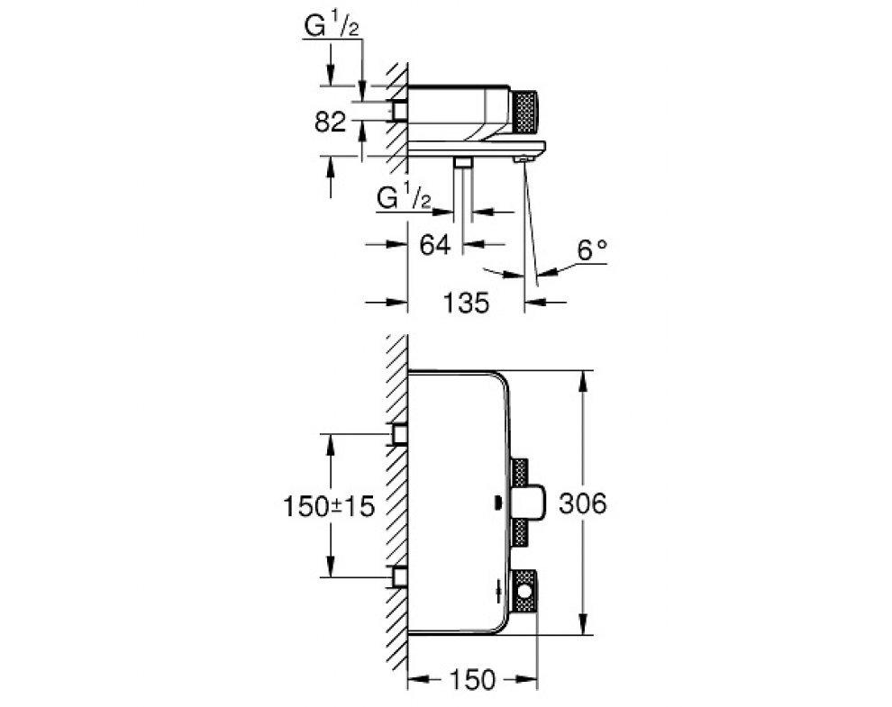 Termostatická vaňová batéria, Grohtherm SmartControl