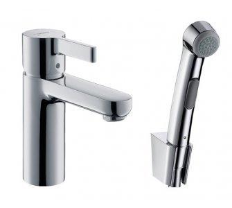 batéria umývadlová stojanková s ručnou sprchou Bidette a sprch.hadicou, METRIS S, chróm