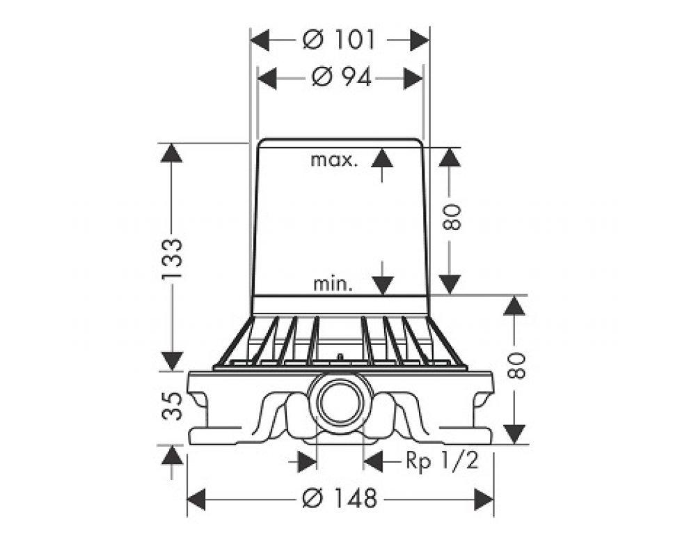 Teleso na batériu montovanú na podlahu