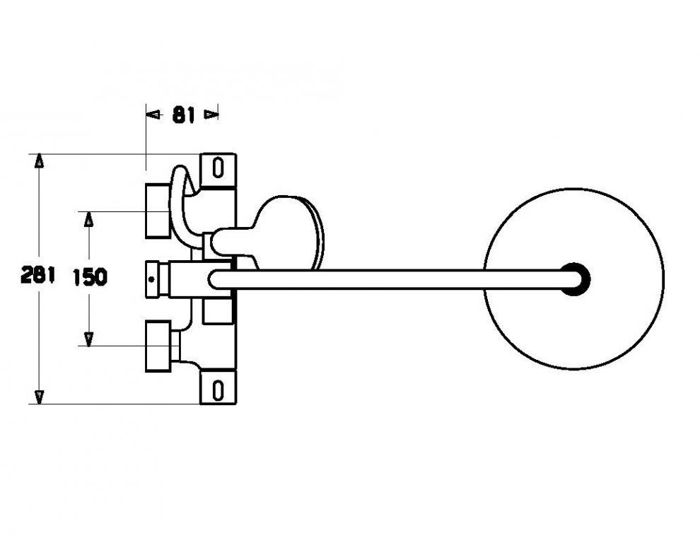 5809 9103 HANSAPRISMA, sprchová termostatická batéria s pripojeným sprchovým systémom