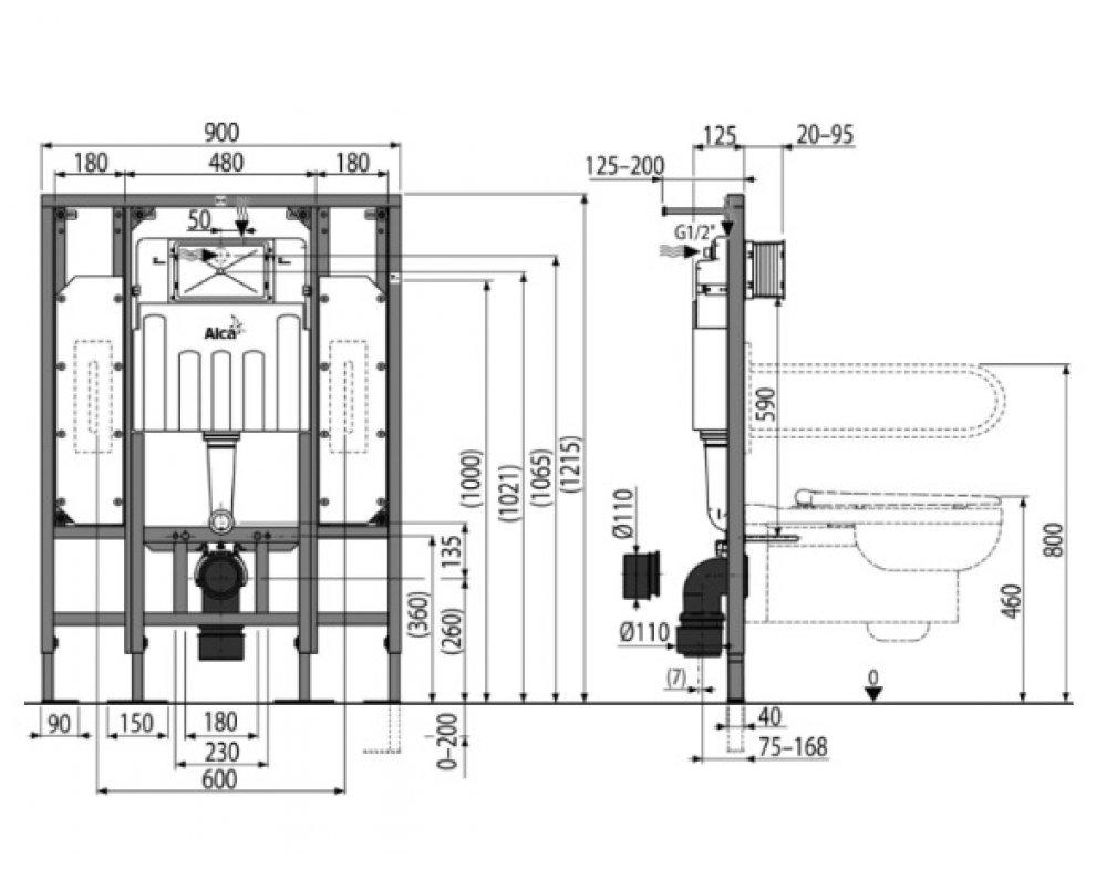 SADROMODUL-predstenový inštal. systém určený na suchú inštaláciu-pre osoby so sníženou hybnosťou