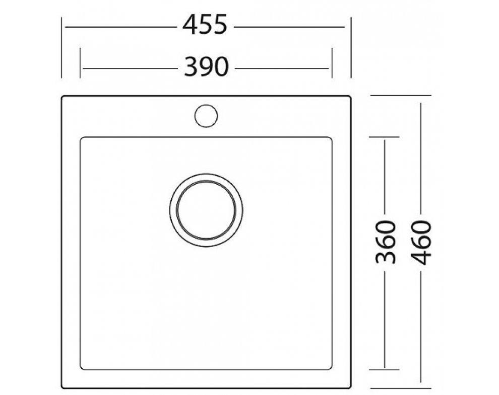 drez granitový Sinks VIVA 455 Sahara