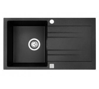SET granit Sinks RAPID 780 Granblack+ENIGMA S GR