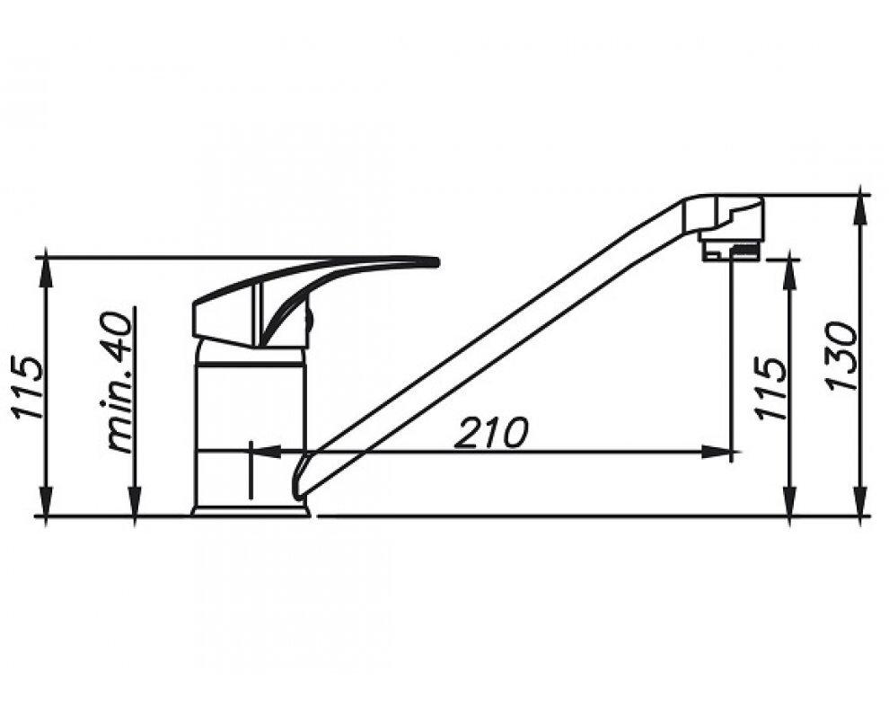 SET granit Sinks LINEA 780 N Granblack+PRONTO GR