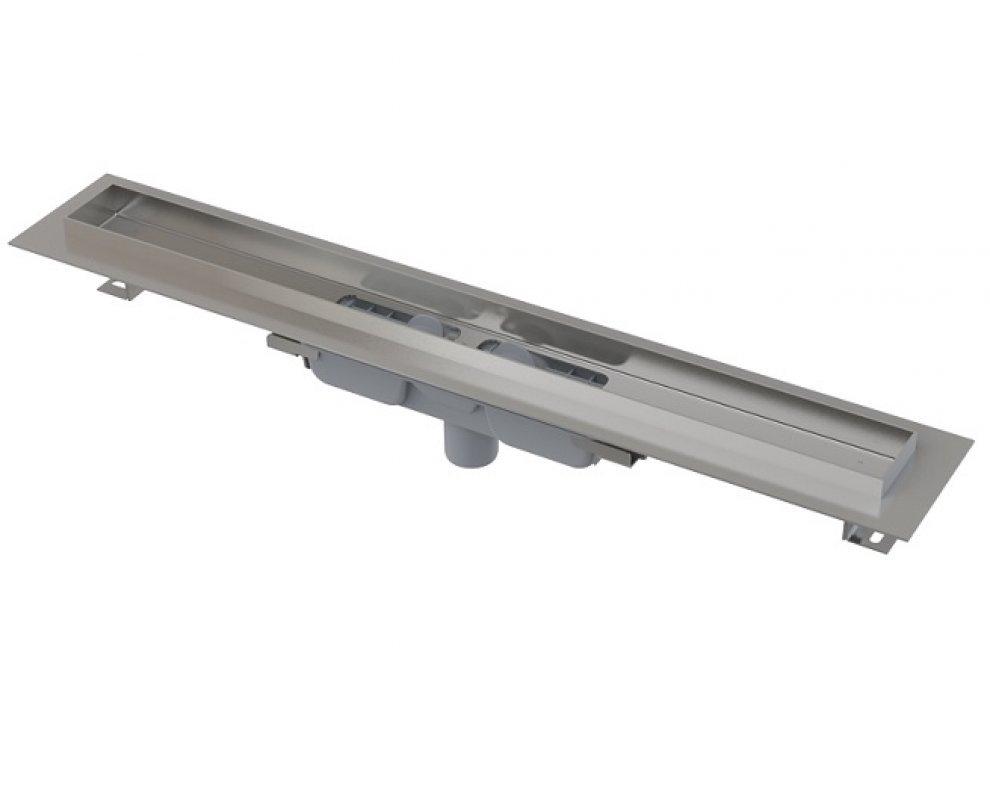 Podlahový žľab s okrajom pre plný rošt, zvislý odtok, 850mm, PROFESSIONAL LOW