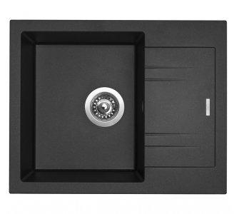 SET drez granit Sinks LINEA 600 N Metalblack + batéria ENIGMA S GR