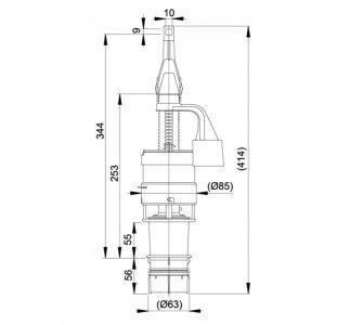 Vypúšťací ventil ECOLOGY pre predstenové inštalačné systémy