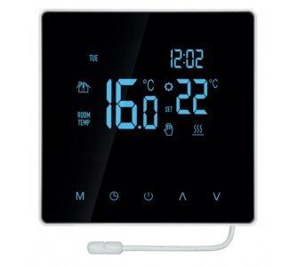 Digitálny termostat s dotykovým ovládaním a s predĺženým čidlom