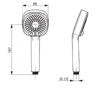 Ručná sprcha, 3 -polohová HANSABASICJET STYLE