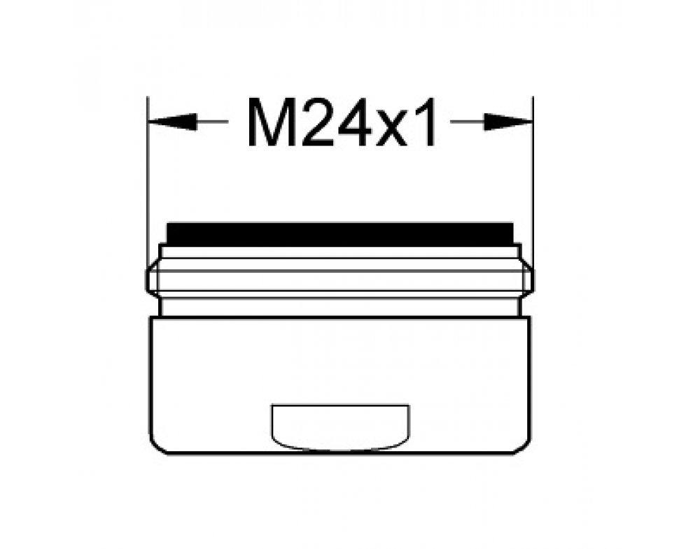 Perlátor M24x1, 15 l/min, chróm