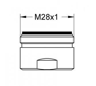 Perlátor M28x1, 30 l/min, chróm