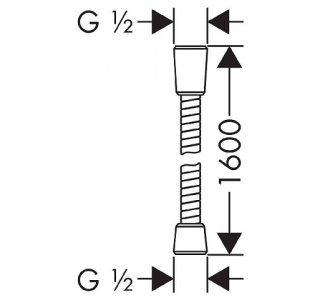 Sprchová hadica Sensoflex, kovová, 1600mm, chróm