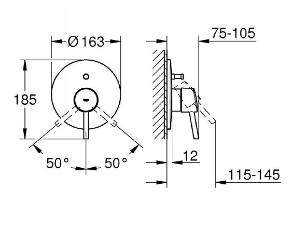 Páková podomietková batéria s prepínačom Concetto New