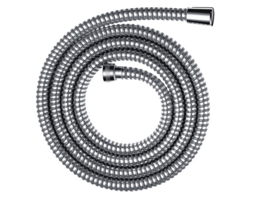 Sprchová hadica plastová, 200 cm, METAFLEX, chróm