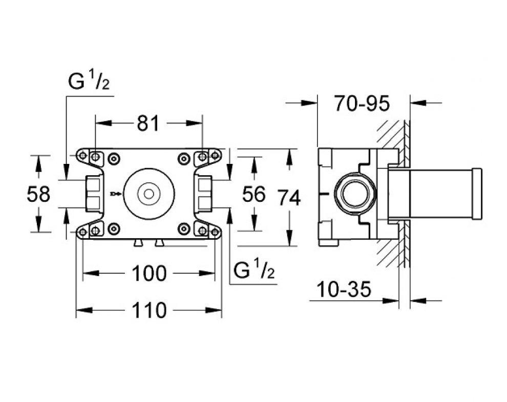 Rapido C - teleso pre podomietkový ventil