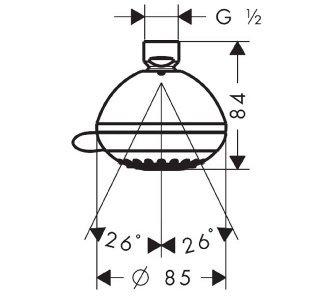 Horná sprcha Multi, Crometta 85, chróm