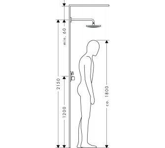 Tanierová horná sprcha 300 2jet so sprchovým ramenem 390 mm,Raindance Select S, biela/chróm