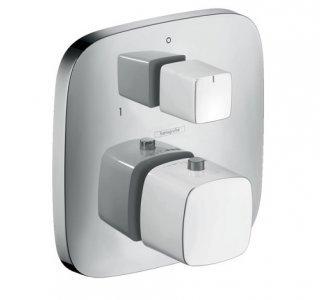 batéria termostatická pod omietku s uzatváracím a prepínacím ventilom, PURAVIDA, biela/chróm