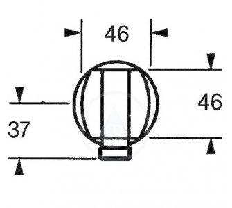 0446 0100 nástený prípojný oblúk so spätnou klapkou 1/2 HANSAJET