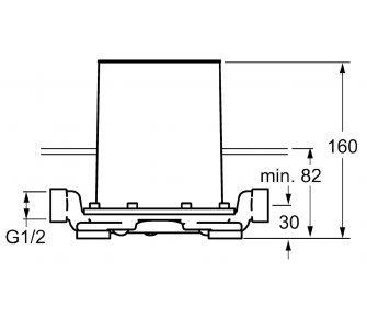 Základné podomietkové montážne teleso pre vaňové batérie, HANSAVARIO