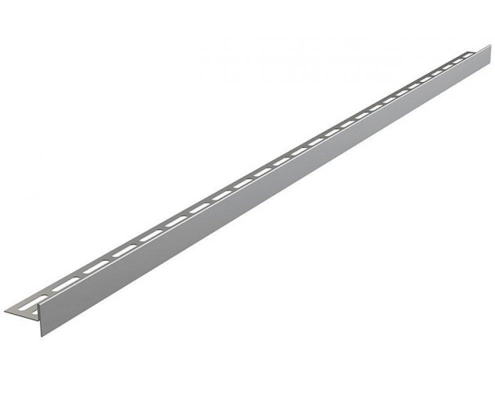Nerezová lišta pre spádovanie podlahy obojstranná (dĺžka 1,2m, hrúbka dlažby 10mm, mat)