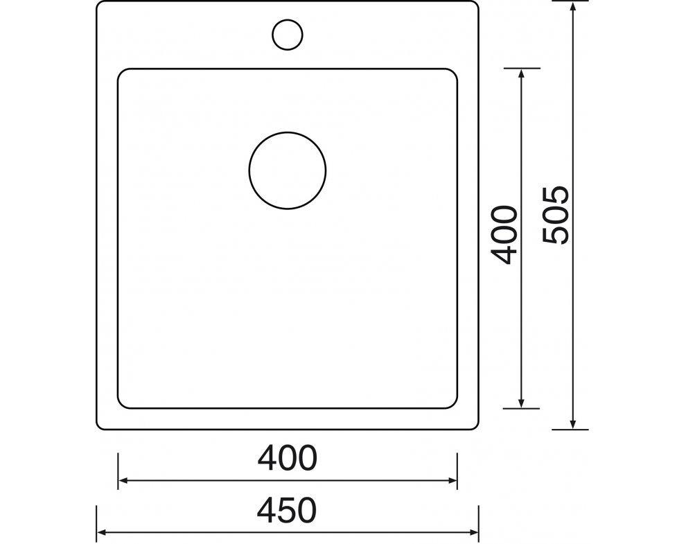drez nerezový Sinks BLOCKER 450 V 1mm kartáčovaný