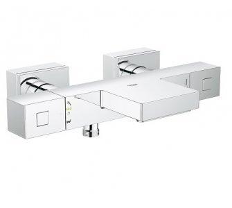 Batéria vaňová termostatická, stenová, s prepínačom vaňa/sprcha, GROHTHERM CUBE, chróm