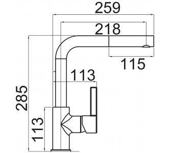 batéria drezová granitová Sinks ENIGMA S - 54 Truffle