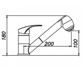 batéria drezová granitová Sinks LEGENDA S - 28 Milk