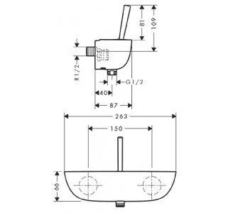 HG sprchová baterie na omítku PuraVida bílá/chrom