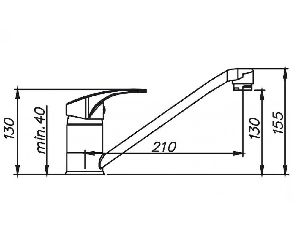 batéria drezová granitová Sinks PRONTO - 50 Sahara