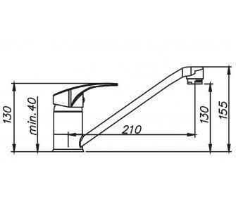 batéria drezová granitová Sinks PRONTO - 72 Titanium