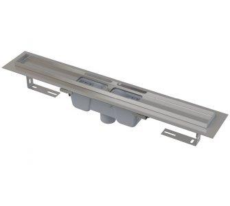 Podlahový žľab s okrajom pre perforovaný rošt, zvislý odtok, 550mm